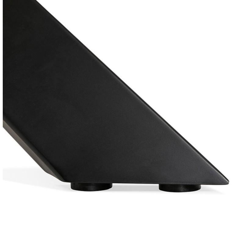 Mesa de comedor de diseño de madera y metal negro (200x100 cm) CATHALINA (acabado natural) - image 48941
