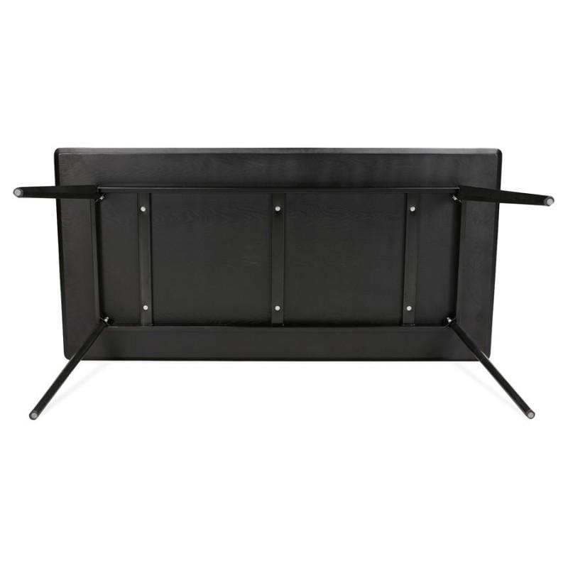 Mesa de comedor de diseño o escritorio de madera (180x90 cm) ZUMBA (negro) - image 48963