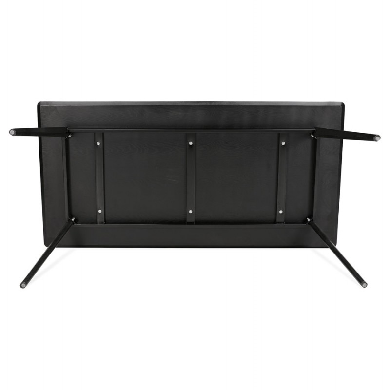 Table à manger design ou bureau en bois (180x90 cm) ZUMBA (noir) - image 48963