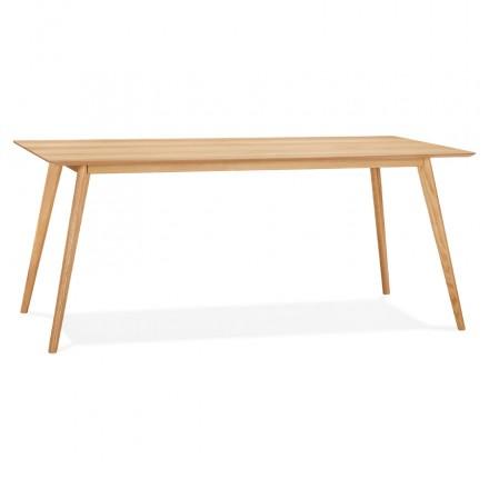 Skandinavischer Holzdesign Esstisch oder Schreibtisch (180x90 cm) ZUMBA (natürlich)