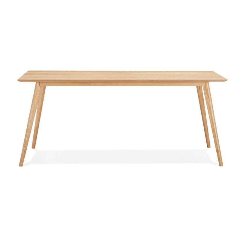Table à manger design ou bureau style scandinave en bois (180x90 cm) ZUMBA (naturel) - image 48965