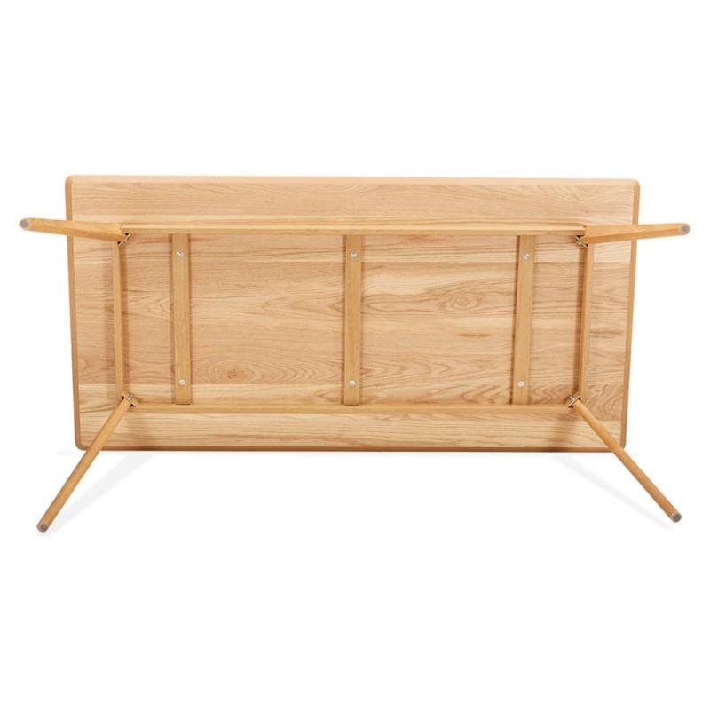 Mesa o escritorio de diseño de madera de estilo escandinavo (180x90 cm) ZUMBA (natural) - image 48973