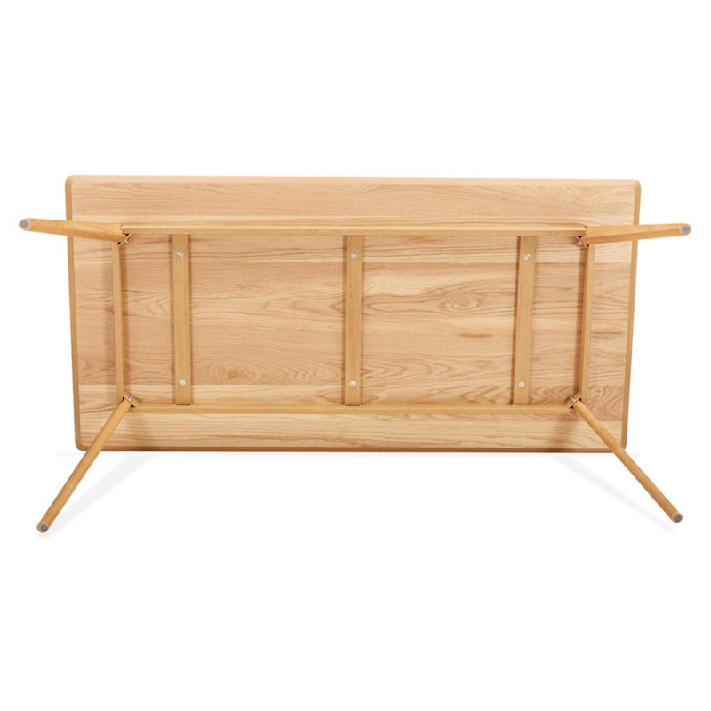 Tavolo da pranzo o scrivania in legno in stile scandinavo (180x90 cm) (naturale) - image 48973