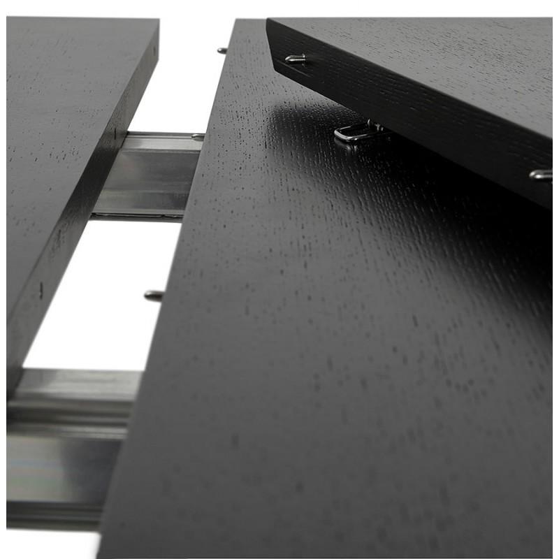 Ausziehbarer Esstisch aus Holz und Chromfüße (170/270cmx100cm) RINBO (schwarz) - image 49031