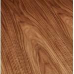 Table à manger extensible en bois et pieds noirs (170/270cmx100cm) LOANA (noyer)