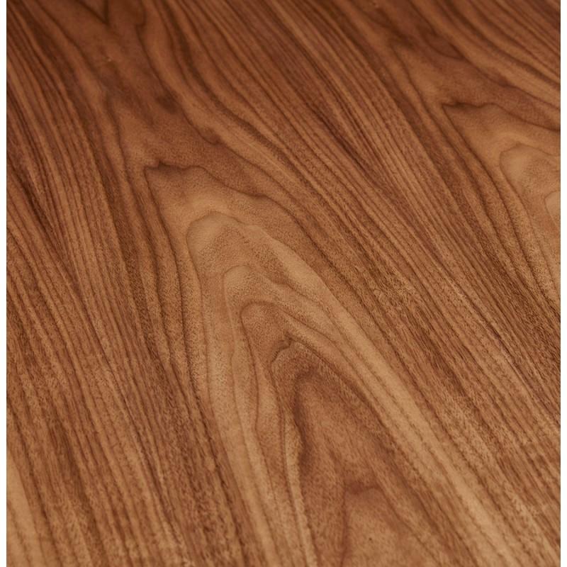 Table à manger extensible en bois et pieds noirs (170/270cmx100cm) LOANA (noyer) - image 49040
