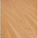 Mesa de comedor de madera extensible y pies cromados (170/270cmx100cm) RINBO (acabado natural)