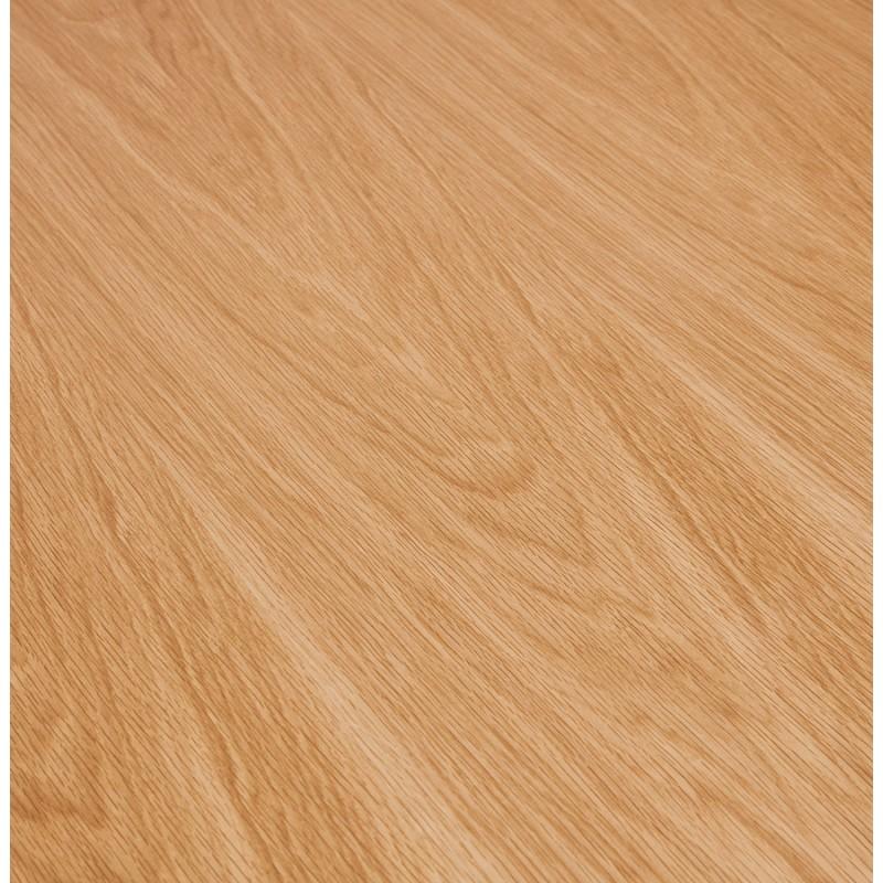Mesa de comedor de madera extensible y pies cromados (170/270cmx100cm) RINBO (acabado natural) - image 49052
