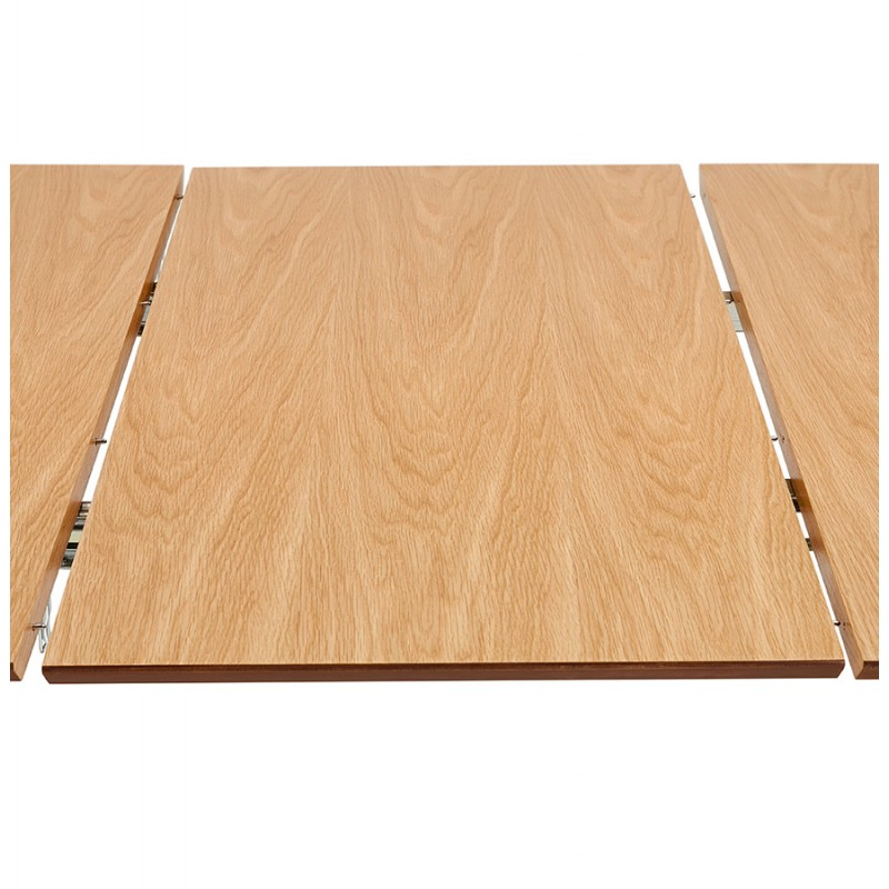 Mesa de comedor de madera extensible y pies cromados (170/270cmx100cm) RINBO (acabado natural) - image 49053