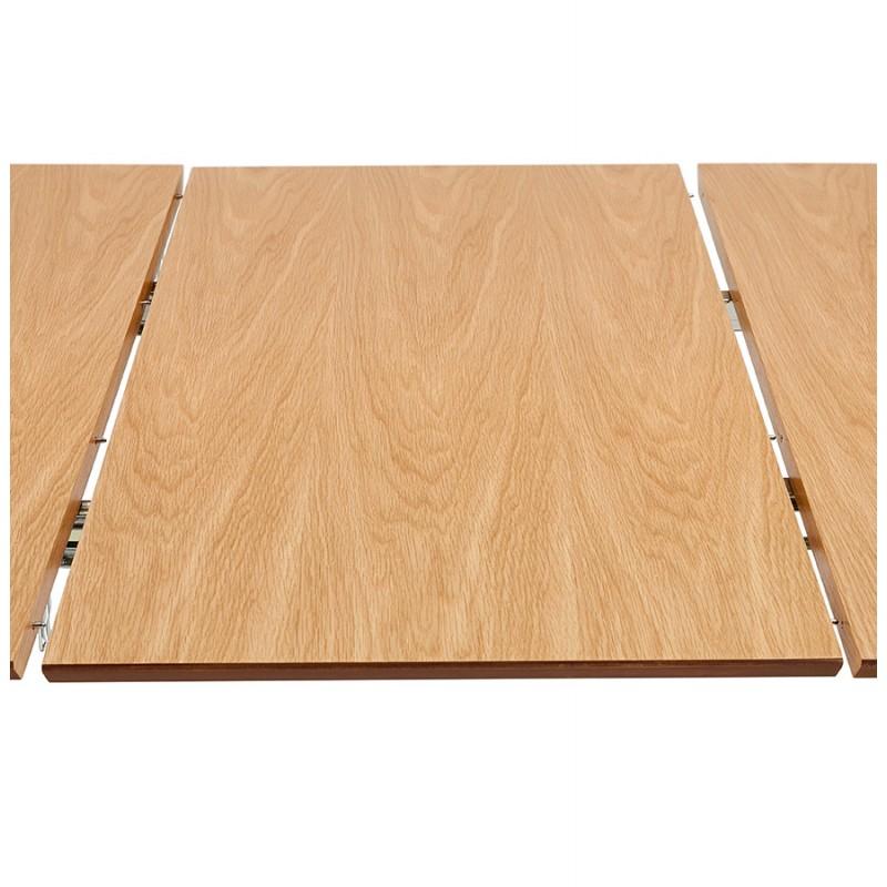 Ausziehbarer Esstisch aus Holz und Chromfüße (170/270cmx100cm) RINBO (natürliche Oberfläche) - image 49053