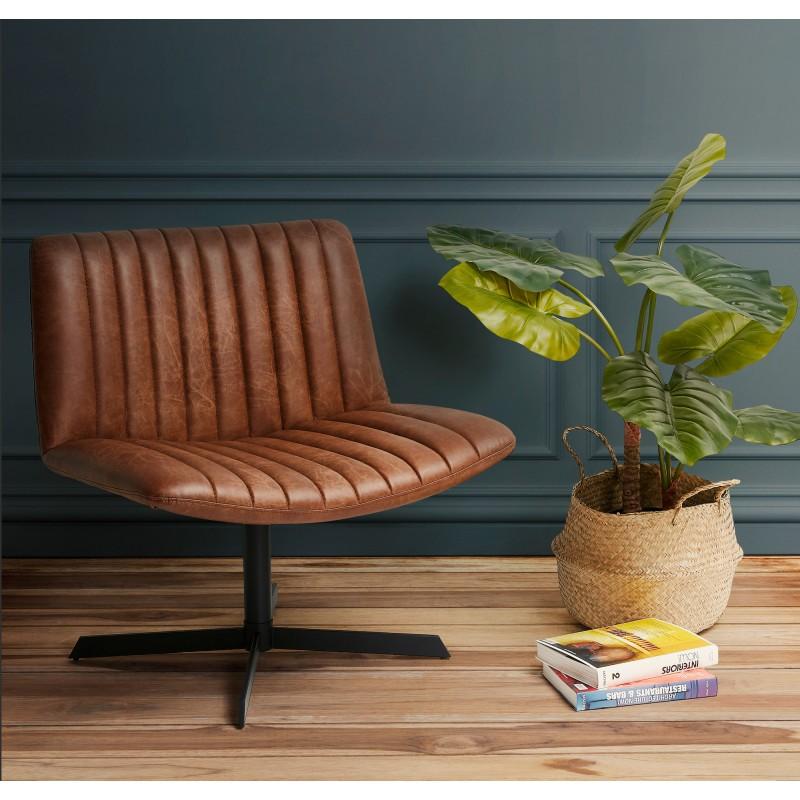 PALOMA swivel vintage chair (brown) - image 49114