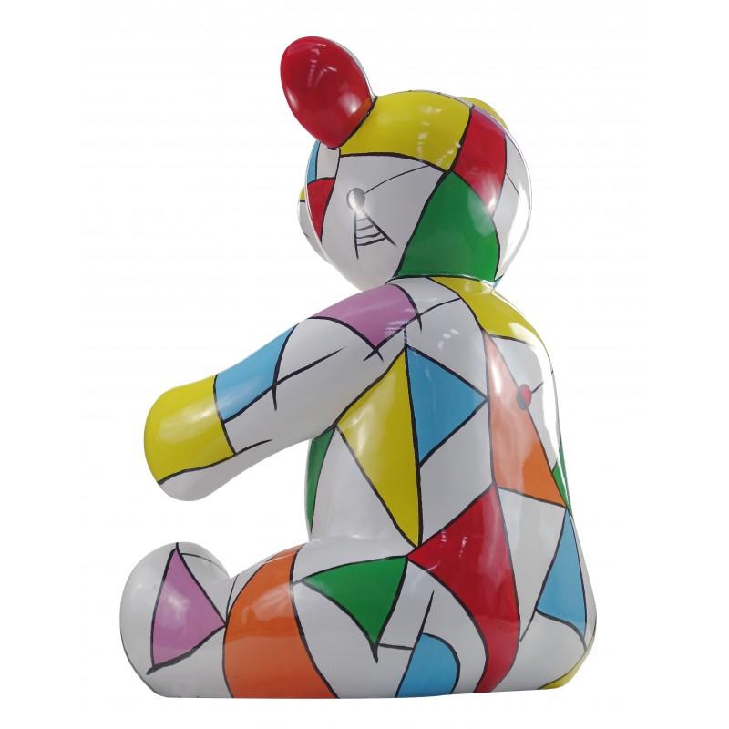 Statue sculpture decorative design Teddy bear resin H100 cm (multicolor) - image 49123