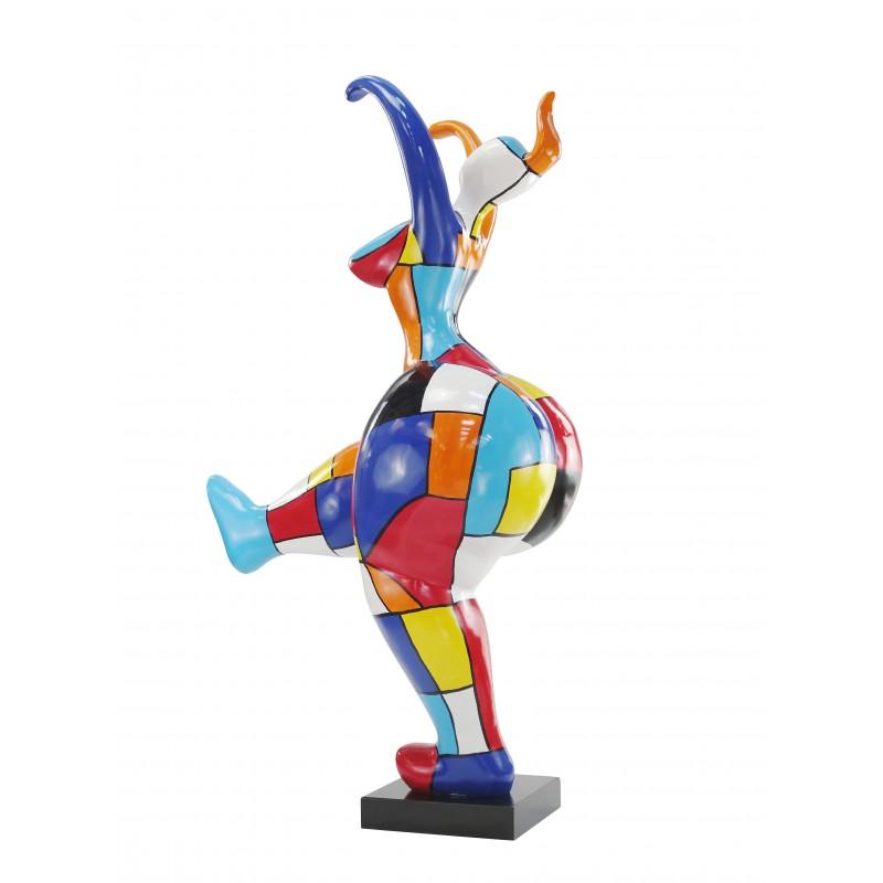 Statue sculpture décorative design FEMME NANA en résine H145 cm (multicolore) - image 49143