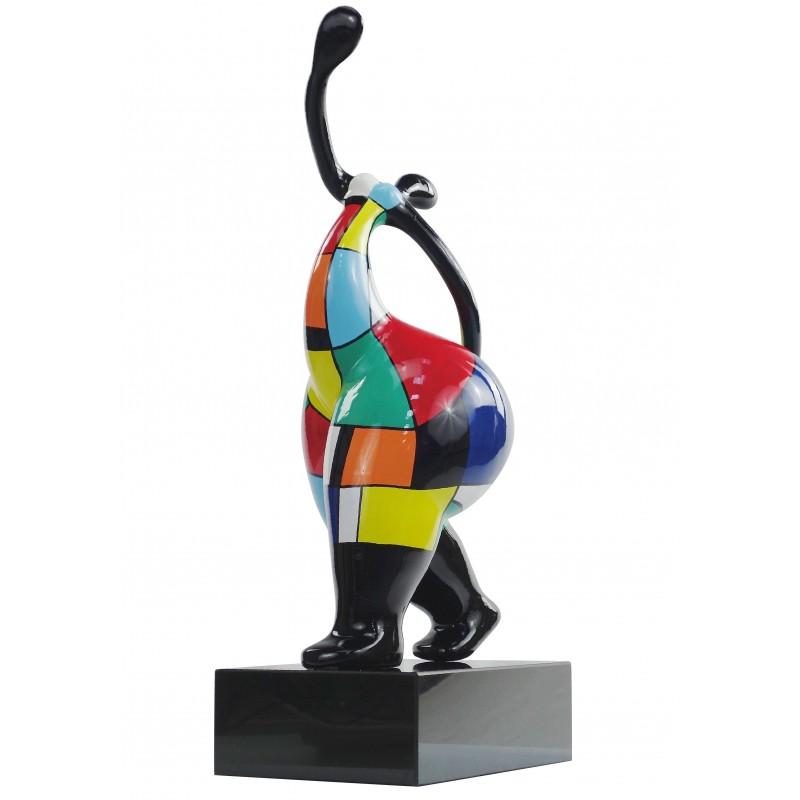 Statua di donna sensuale di design scultura decorativa in resina H61 cm (multicolore) - image 49153