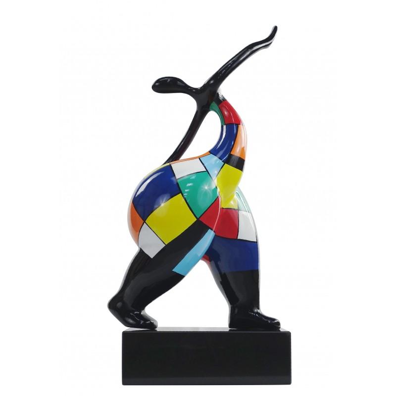 Statua di donna sensuale di design scultura decorativa in resina H61 cm (multicolore) - image 49157
