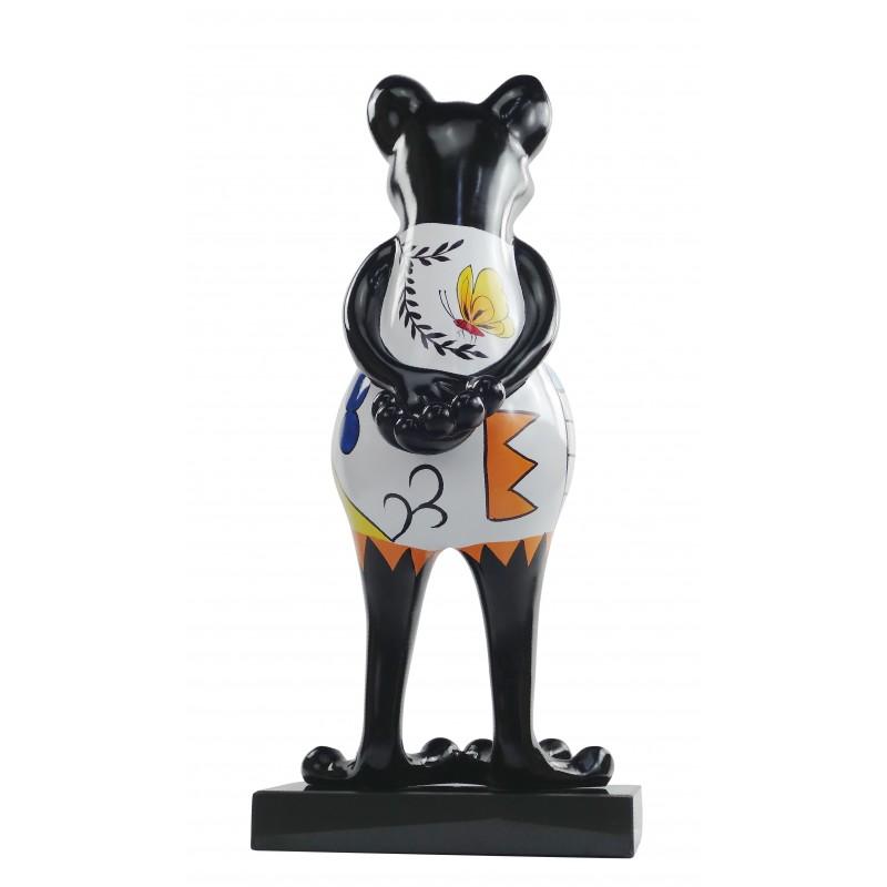 Statue design decorative sculpture frog PSYCHEDELIC resin H68 (multicolor) - image 49181
