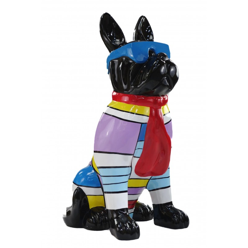 Statuette Design dekorative Skulptur Hundesitting H100 im Harz (multicolor) - image 49208