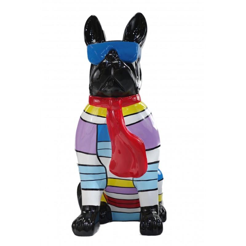 Statuette Design dekorative Skulptur Hundesitting H100 im Harz (multicolor) - image 49213