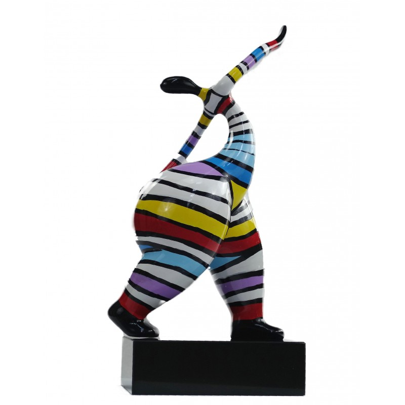 Statuette design decorative sculpture woman standing in resin H61 (multicolor) - image 49219
