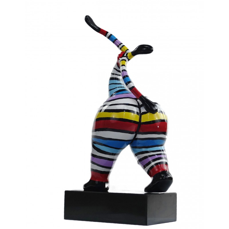 Statuette design decorative sculpture woman standing in resin H61 (multicolor) - image 49222