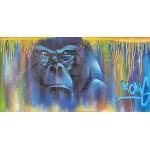 Tavolo Street Art GORILLE (Blu)