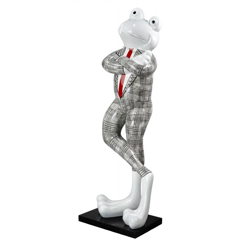 Statue sculpture décorative design GRENOUILLE DEBOUT en résine H180 cm (Noir, blanc) - image 49256