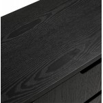 Buffet enfilade design 2 portes 3 tiroirs en bois  MELINA (noir)