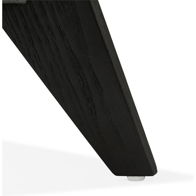 Buffet enfilade design 2 portes 3 tiroirs en bois  MELINA (noir) - image 49343