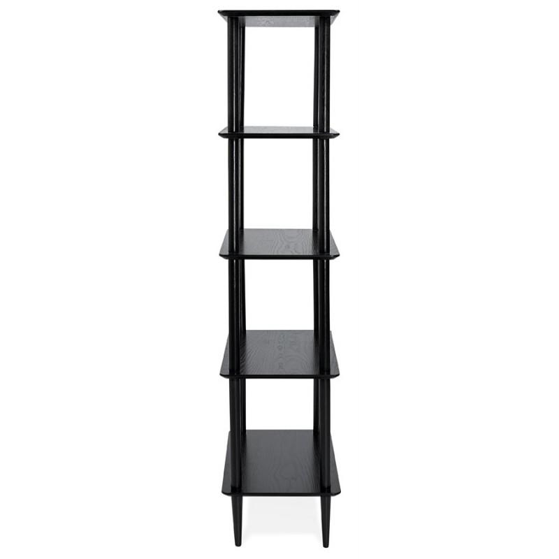 Etagère bibliothèque design style scandinave en chêne ERIKA (noir) - image 49372