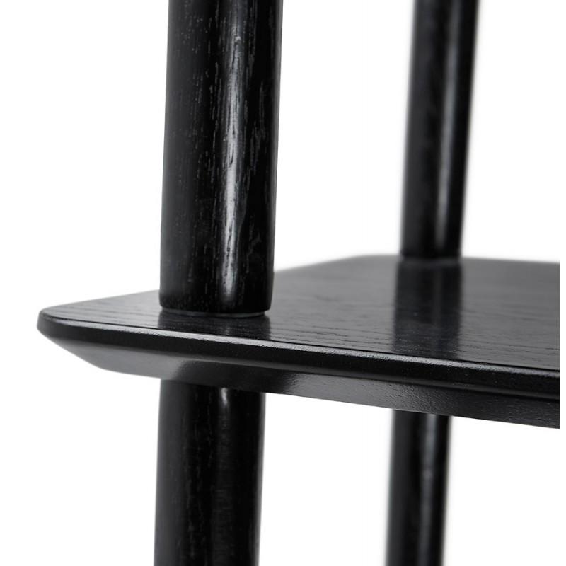 Etagère bibliothèque design style scandinave en chêne ERIKA (noir) - image 49374