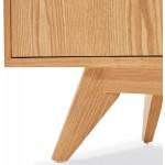 Buffet enfilade design 2 portes 3 tiroirs en bois MELINA (naturel)