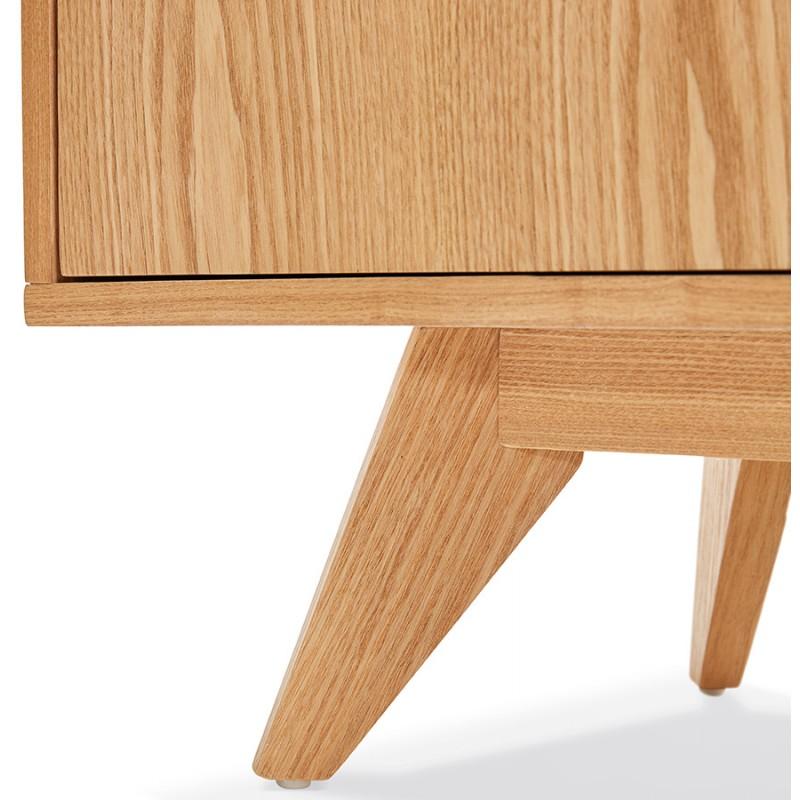 Buffet enfilade design 2 portes 3 tiroirs en bois MELINA (naturel) - image 49405