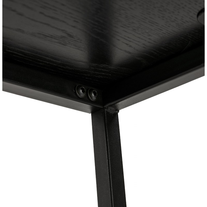 Etagère bibliothèque design style industriel en bois et métal AKARI (noir) - image 49417