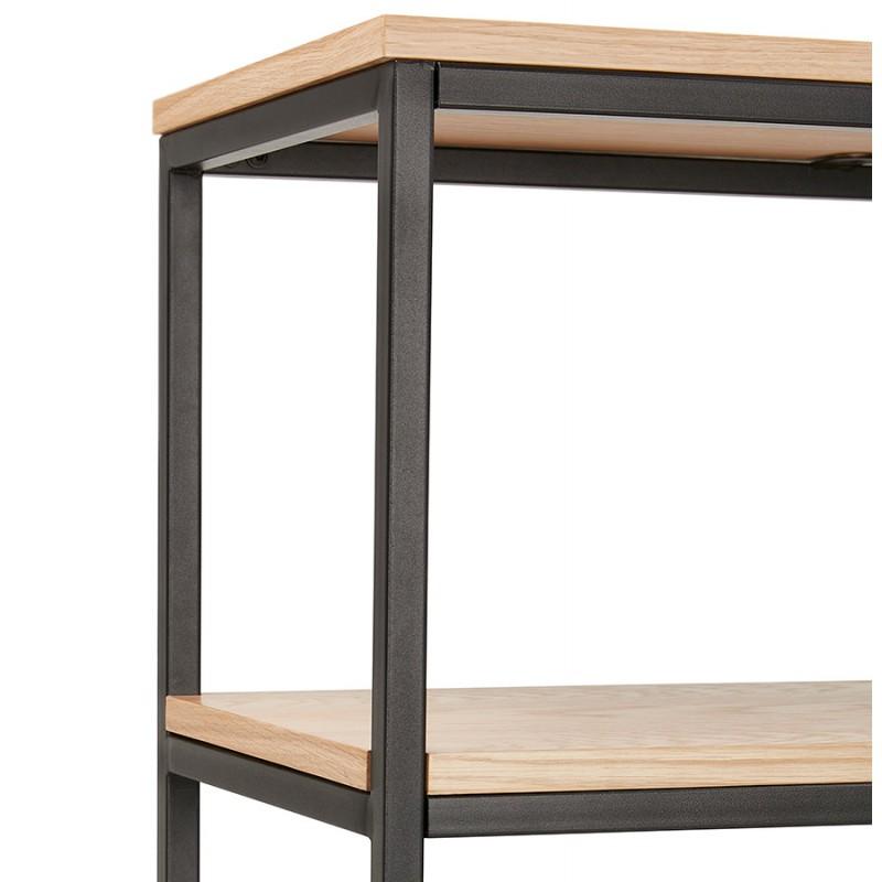 Design esteso biblioteca stile industriale in legno e metallo AKARI (naturale) - image 49422