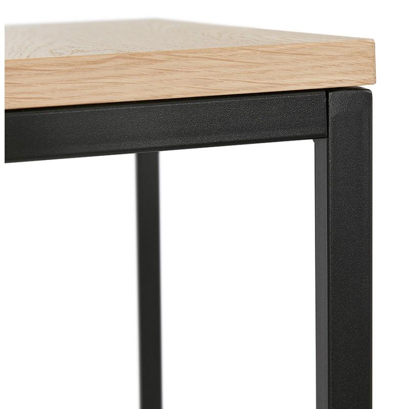 Design esteso biblioteca stile industriale in legno e metallo AKARI (naturale) - image 49423