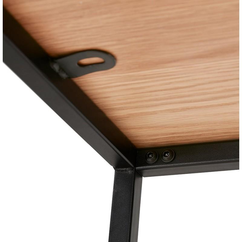 Etagère bibliothèque design style industriel en bois et métal AKARI (naturel) - image 49424