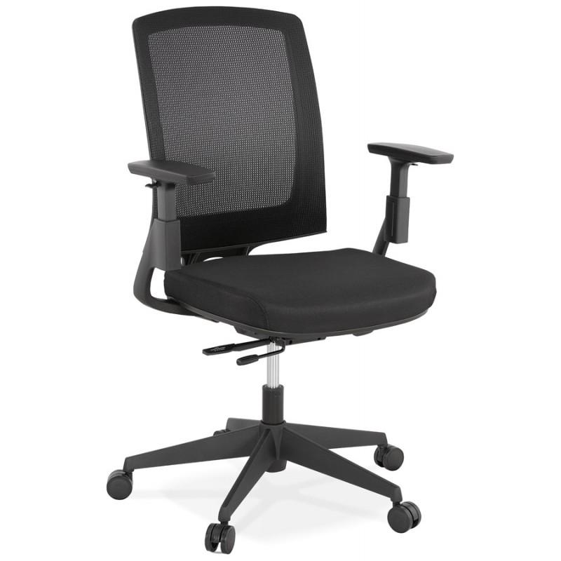 Fauteuil de bureau ergonomique en tissu KAORI (noir) - image 49427