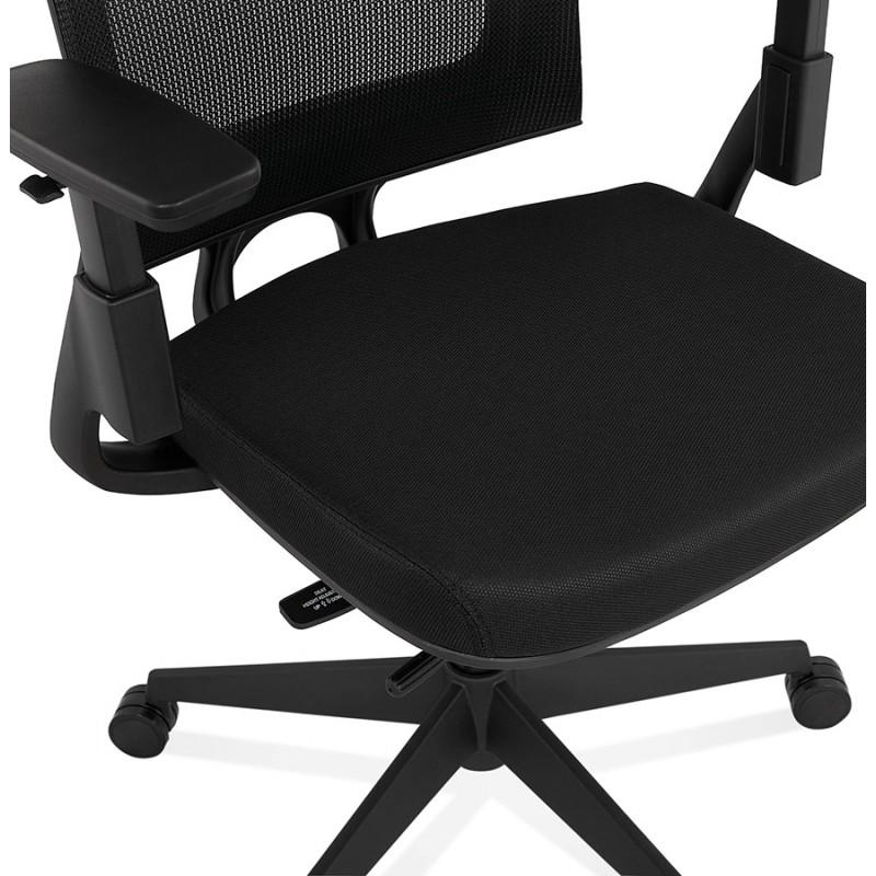 Fauteuil de bureau ergonomique en tissu KAORI (noir) - image 49439