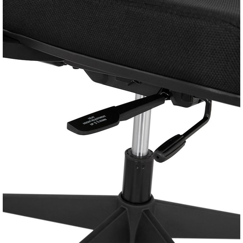 Fauteuil de bureau ergonomique en tissu KAORI (noir) - image 49440