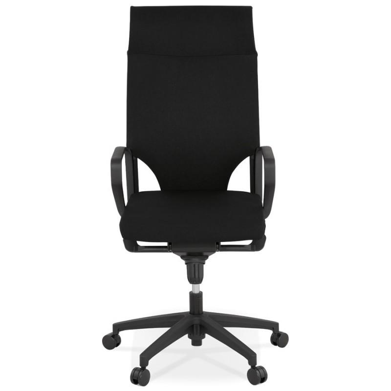 Schreibtischsessel aus AYUMI Stoff (schwarz) - image 49445