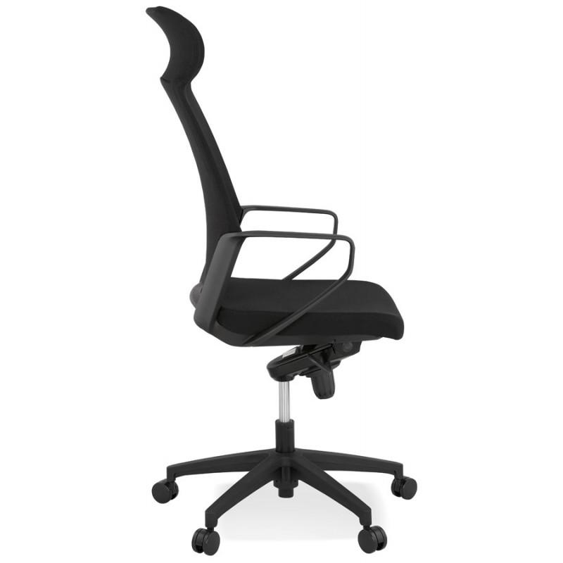 Schreibtischsessel aus AYUMI Stoff (schwarz) - image 49446