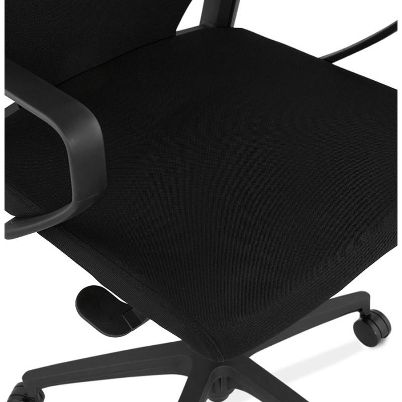 Fauteuil de bureau en tissu AYUMI (noir) - image 49451