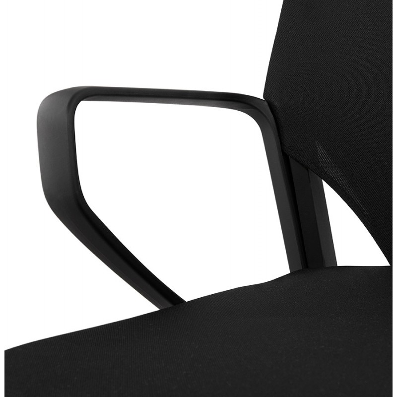Fauteuil de bureau en tissu YOKO (noir) - image 49470