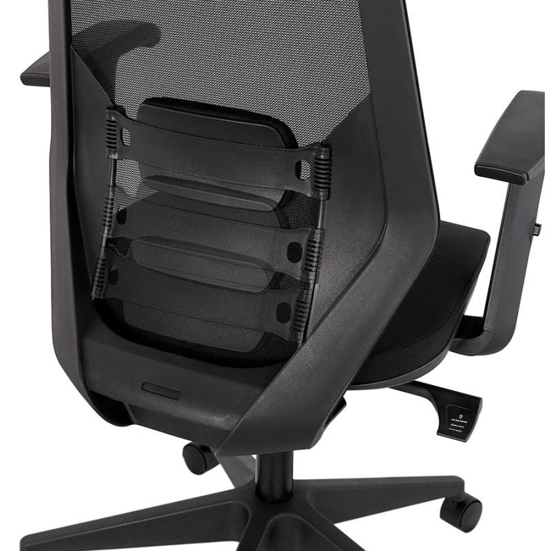 Fauteuil de bureau ergonomique en tissu AMAYA (noir) - image 49483