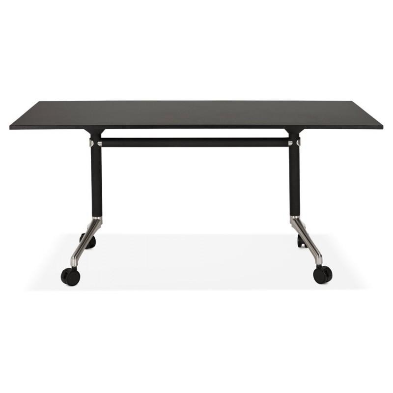 Falttisch auf Rädern aus Holz schwarze Füße SAYA (160x80 cm) (schwarz) - image 49488