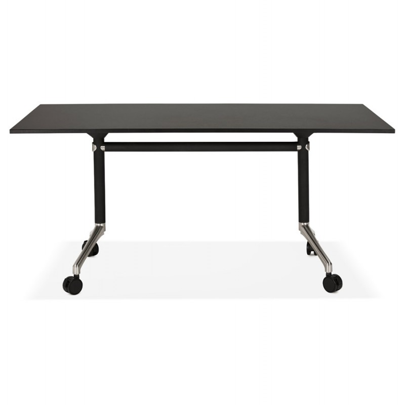 SAYA (160x80 cm) (black) wooden wheelworking table - image 49488