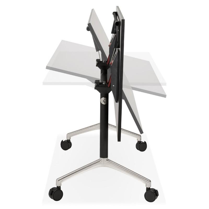 Table pliante sur roulettes  en bois pieds noirs SAYA (160x80 cm) (noir) - image 49492