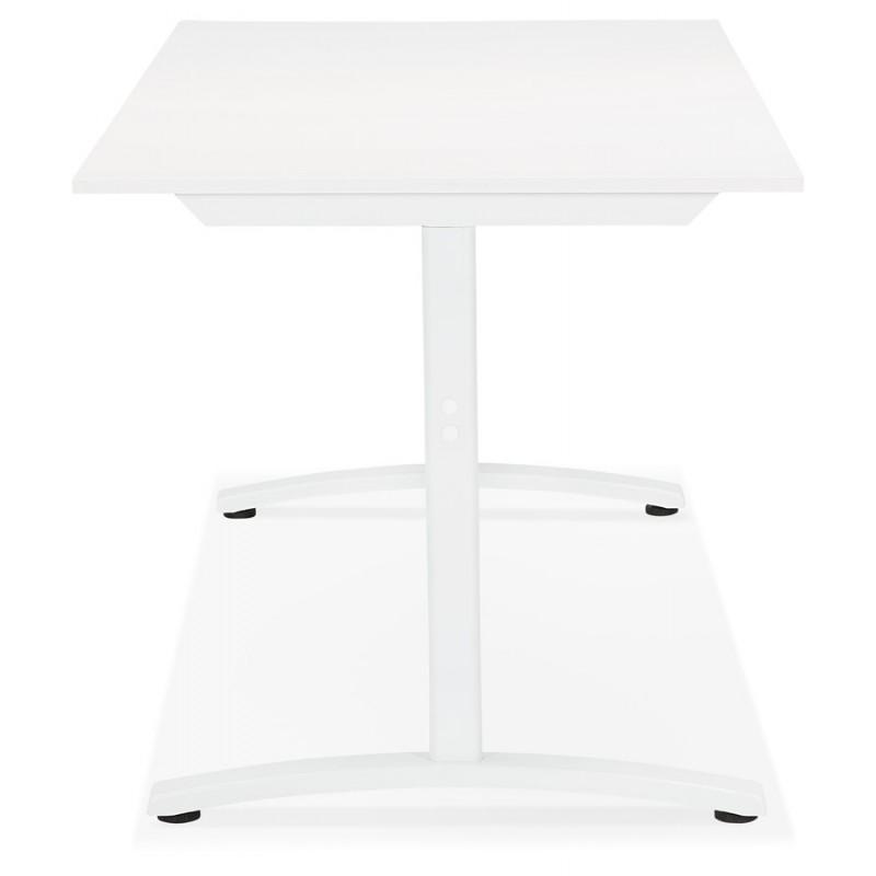 Bureau droit en bois pieds blanc SONA (160x80 cm) (blanc) - image 49502