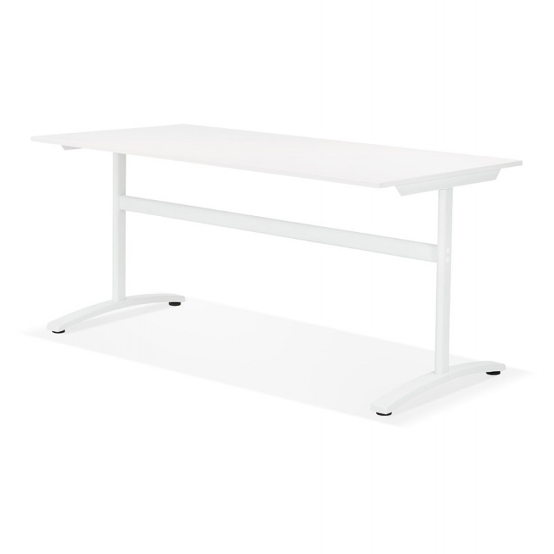 SONA white-footed wooden right desk (160x80 cm) (white) - image 49503