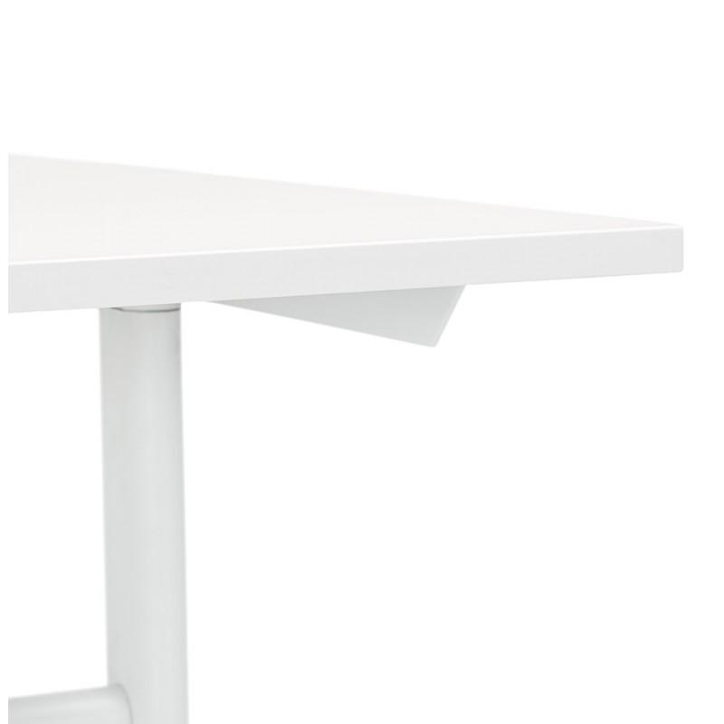 Bureau droit en bois pieds blanc SONA (160x80 cm) (blanc) - image 49504